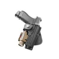 Fobus Glock 19 Light Bearing Tactical Rotating Paddle Holster