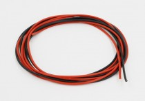 Low Resistance Wire 50cm Red and 50cm Black Pair Airsoft
