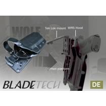 "Blade-Tech WRS Duty Holster DOH Tek-Lok XDM 5"" DE RH"