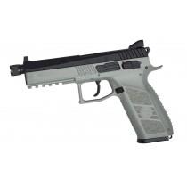 ASG CZ P-09 CO2 GBB Airsoft Pistol with Threaded Barrel - Urban Grey & Black