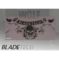 Blade-Tech Skull T Shirt Short Sleeve Grey XLarge