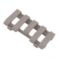 ERGO LowPro 5-Slot Picatinny Rail Wire Loom - Dark Earth