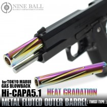 Laylax Hi-Capa 5.1 Fluted Outer Barrel Heat Gradation