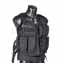 Big Foot Special Forces Mesh Vest with Cross Draw Holster (Black)