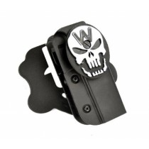 WE Double Barrel Glock Series Airsoft Belt Holster with Skull