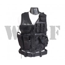 Webtex Cross Draw Vest Black