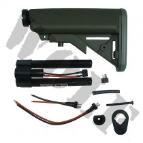 G&P M4A1 Extended Battery Buttstock with 8.4v Battery - OD