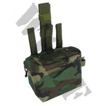 King Arms DA Utility Drop Leg Pouch - Woodland