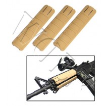 King Arms Rail Cover 157mm - Tan (Set of 3)