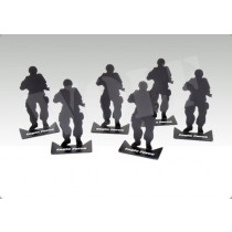 Small Aluminum Army Men Silhouette Target Set