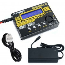 TURNIGY Accucel-6 50W digital Balance Charger 5A with Power Supply and Airsoft Battery Charging Harness Type 4 (Bundle)