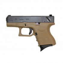 WE Glock 26 GBB Pistol (Tan) airsoft