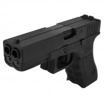 WE Glock 17 Dual Barrel GBB Pistol (Black)