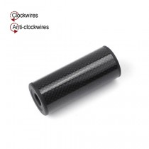 King Arms Carbon Fiber Fibre Silencer - 35 x 85mm