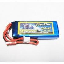 7.4V 800mAh 25C LiPo Battery Giant Power