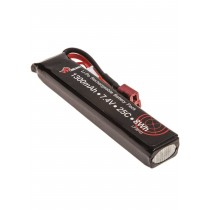 7.4V 1300mAh 25C LiPo Stick Battery IP DEANS