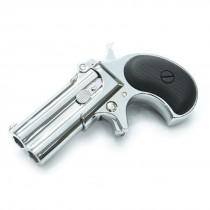 Maxtact Derringer Full Metal Gas Airsoft Double Barrel Pistol - Silver