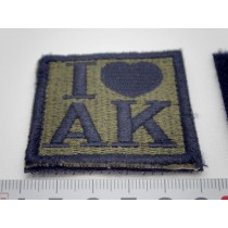 I Love AK47 Velcro Patch