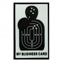 BUSINESS CARD Tactical Rubber Velcro Patches