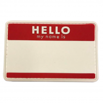 HELLO (Red) Tactical Rubber Velcro Patches