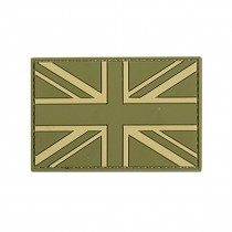 UNION JACK PALE GREEN Tactical Rubber Velcro Patches