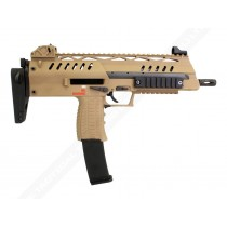 WE SMG-8 (MP7) Tan GBB Submachine Gun