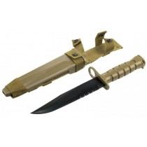 CCCP Airsoft M10 Rubber Bayonet Knife for M4/M16 Tan
