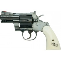 "Tanaka Colt Python Snake Eyes 2.5"" R-Model Steel Finish Airsoft Revolver"