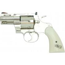 "Tanaka Colt Python Snake Eyes 2.5"" R-Model Stainless Airsoft Revolver"