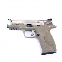 WE Big Bird FDE Vented GBB Pistol (Silver Slide/Gold Barrel)