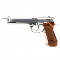 WE Beretta M92L Long Slide Silver GBB Pistol