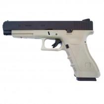 WE Glock 34 Gen 3 GBB Pistol (Tan)